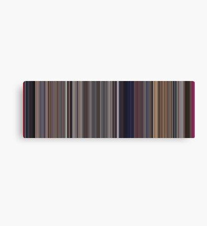 Moviebarcode: A Clockwork Orange (1971) [Simplified Colors] Canvas Print