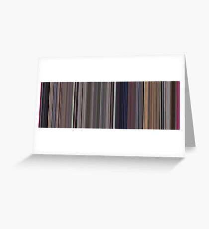 Moviebarcode: A Clockwork Orange (1971) [Simplified Colors] Greeting Card