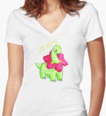 Meganium Women's Fitted V-Neck T-Shirt