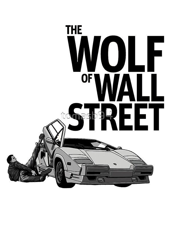 """""""THE WOLF OF WALL STREET-LAMBORGHINI COUNTACH"""" Stickers by ..."""