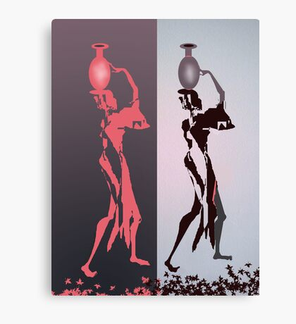 Women with jugs Canvas Print