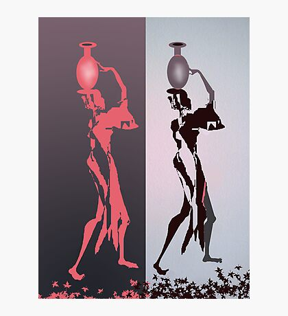 Women with jugs Photographic Print