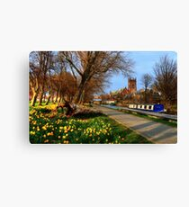 Union Canal Canvas Print