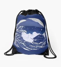 The great whale  Drawstring Bag