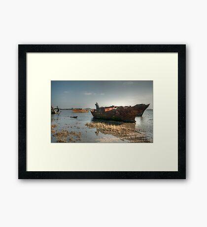High Tide Wrecks Framed Print