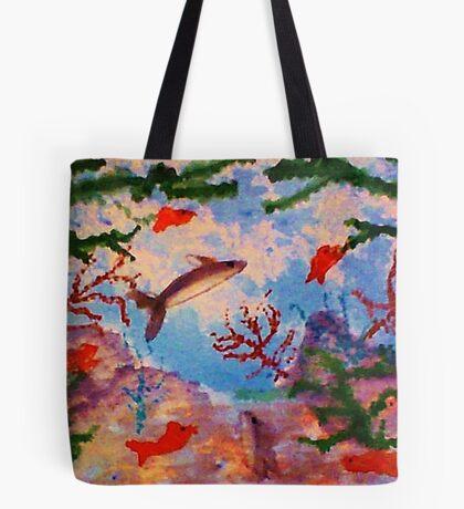 Frolicing Fish 2, watercolor Tote Bag