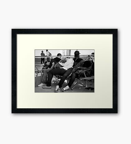 peoplescapes #239, total commitment Framed Print
