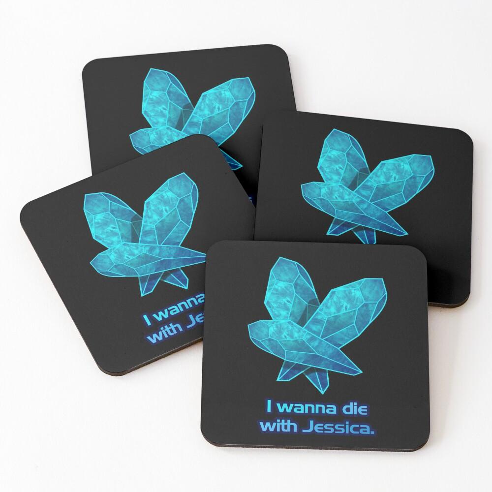 Death Crystals Coasters (Set of 4)