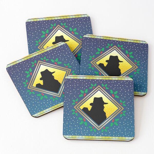 Cole Hawlings Arctic Blue Fresco Coasters (Set of 4)