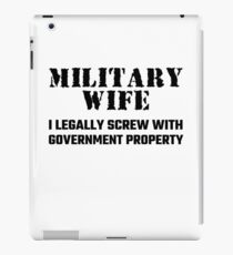Military Wife iPad Case/Skin