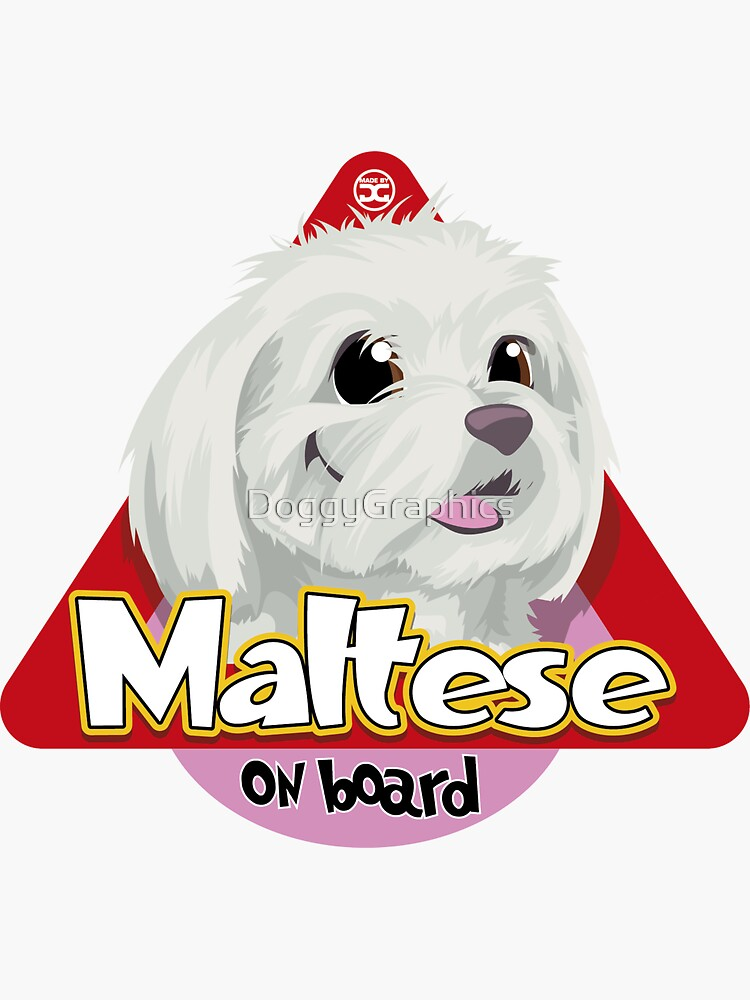 Maltese On Board by DoggyGraphics