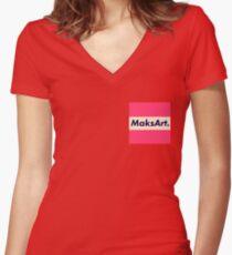 OG MaksArt Logo Women's Fitted V-Neck T-Shirt