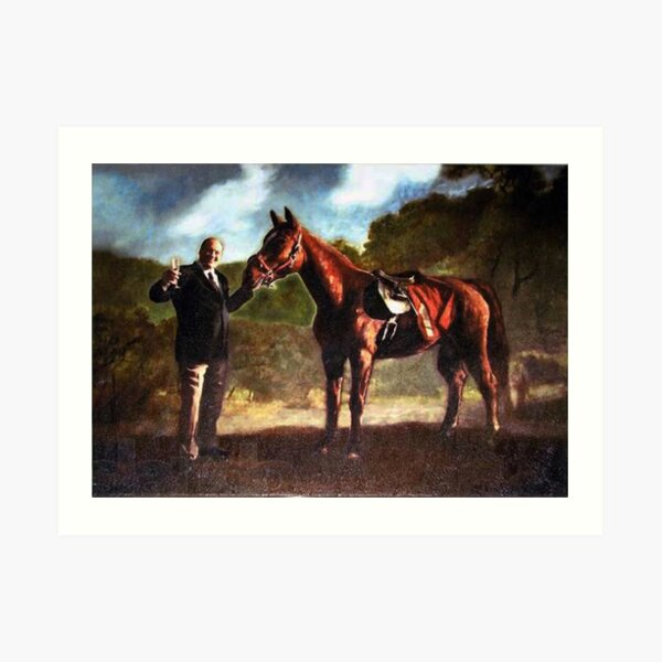 Baby Pie - Tony Soprano and his Horse Art Print