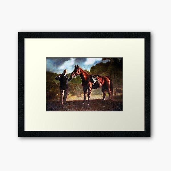 Baby Pie - Tony Soprano and his Horse Framed Art Print