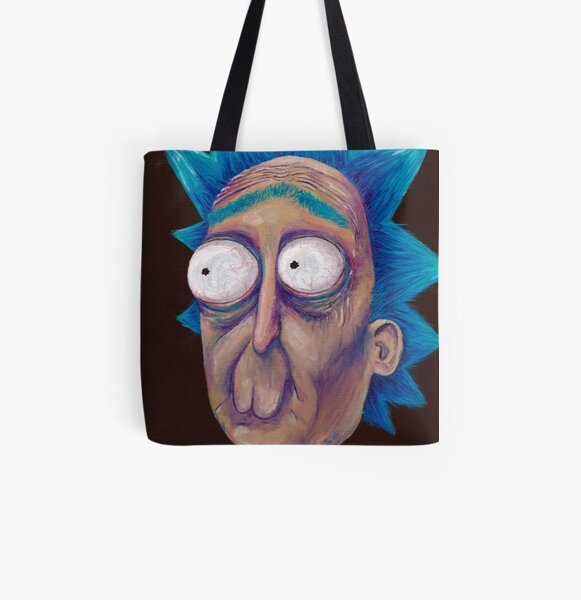 Rick and Morty-- trippy Rick All Over Print Tote Bag