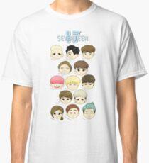 SEVENTEEN Chibi Köpfe Classic T-Shirt