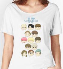 Camiseta ancha DIECISIETE cabezas Chibi