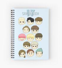 SEVENTEEN Chibi Heads Spiral Notebook