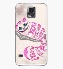 Ich bin nicht alles da - Cheshire Cat Hülle & Klebefolie für Samsung Galaxy