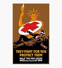 Protect Them -- Help The Red Cross Photographic Print