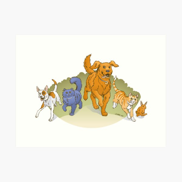 Pets on the March Art Print