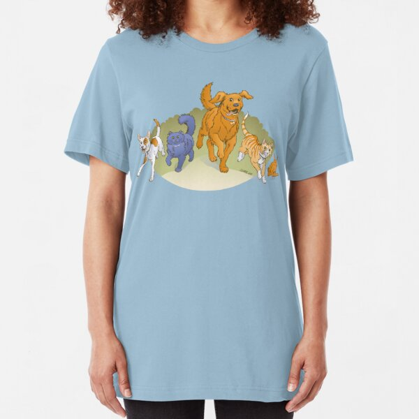 Pets on the March shirt Slim Fit T-Shirt