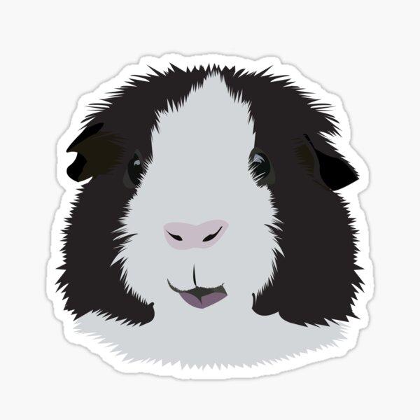 Black and White Guinea Pig Sticker