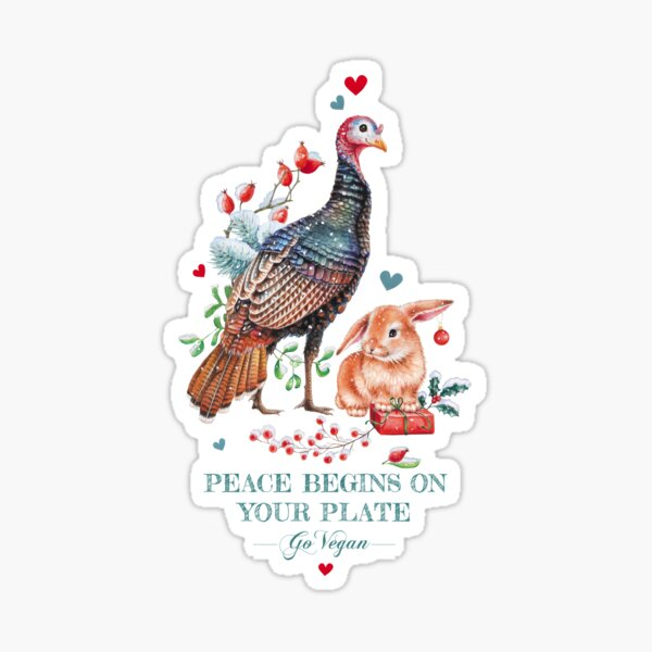 Peaceful Christmas by Maria Tiqwah Sticker