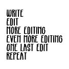 Writing, Edit forever by thisgalknows