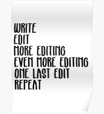 Writing, Edit forever Poster