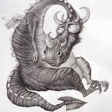 Sad Dragon by sedov