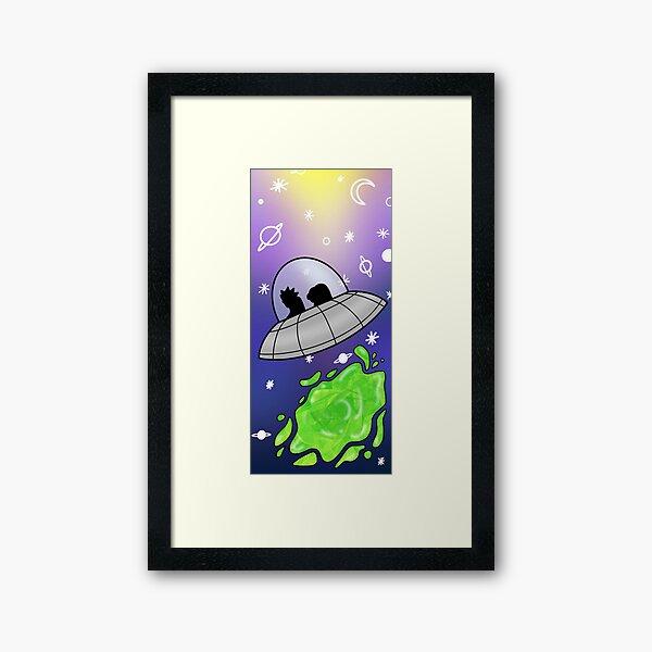 Galaxy travels  Framed Art Print