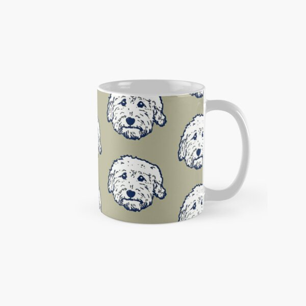 Doodle dog cuteness - Goldendoodle! Labradoodle! Adorable Doodle teddy bear dog - in putty gray Classic Mug