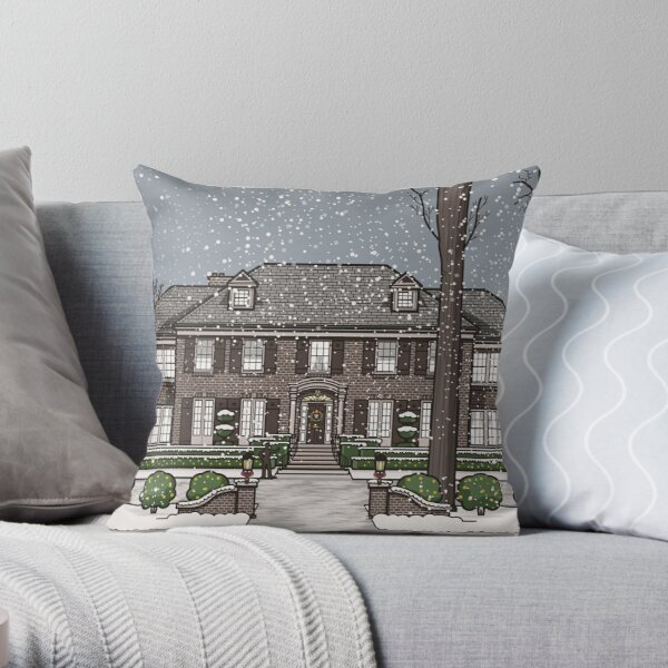 Home Alone Christmas Throw Pillow