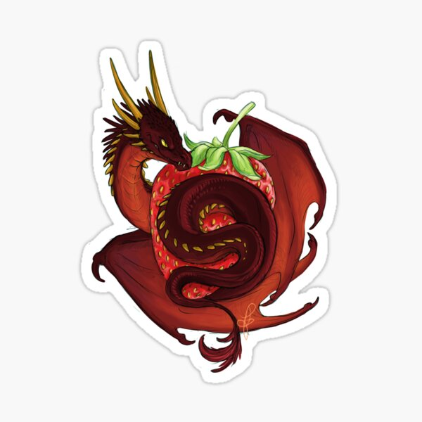 Strawberry Dragon Sticker