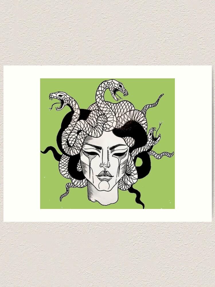 Alternate view of Medusa Art Print