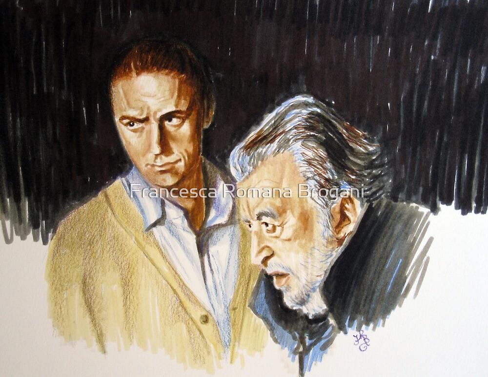 Avati e Marcorè-double portrait by Francesca Romana Brogani