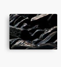 Kimmeridge rocks Canvas Print