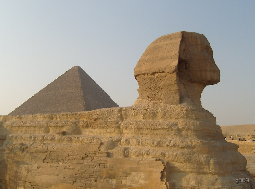 Sphinx and Pyramid by g369