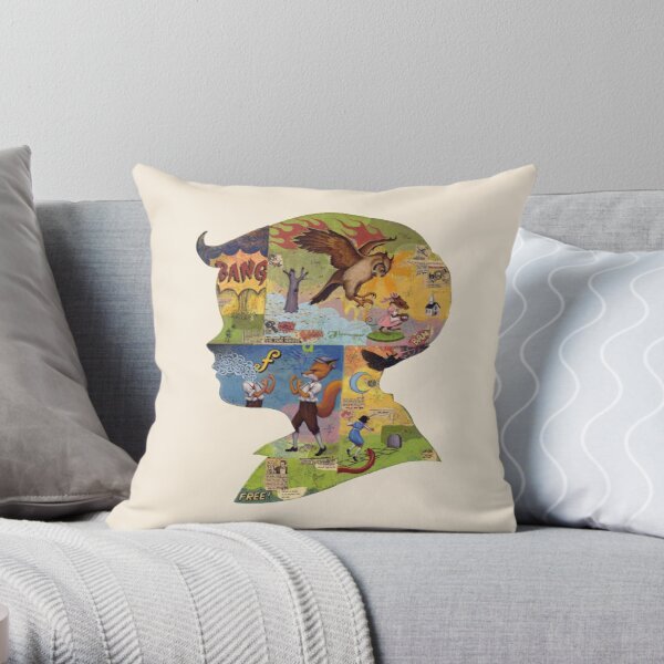 Thoughful - Boy Silhouette Throw Pillow