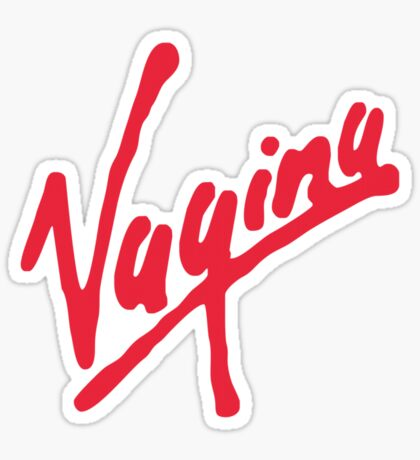 Vagina (for light shirts) Sticker