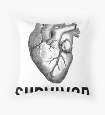 Heart Health Survivor Throw Pillow