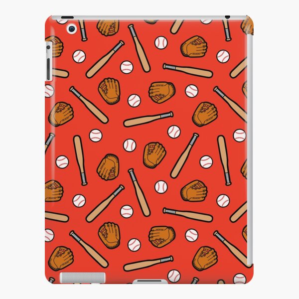 Baseball Pattern in Red iPad Snap Case