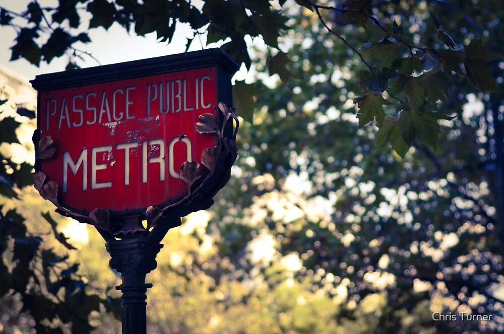 Metro Sign In Paris by Chris Turner