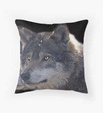 Canis Lupus , two in a Row Throw Pillow