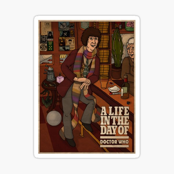 Doctor Who: Tom Baker in the Pub Sticker