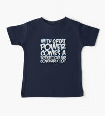 With Great Power Baby Tee