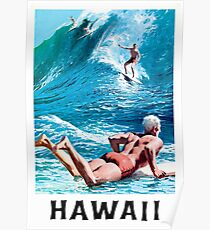 Hawaii Vintage 1950s Poster Artwork for Wall Art, Prints, Posters, Men, Women, Youth Poster