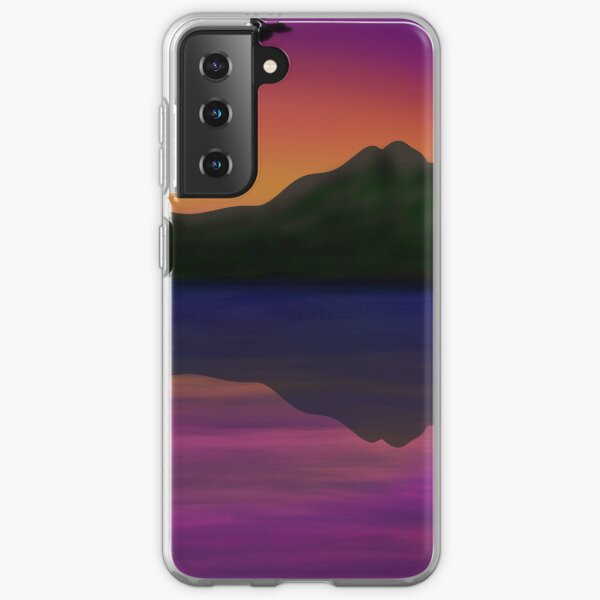 Birds flying above water at sunset Samsung Galaxy Soft Case