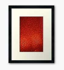 Red Abstract Background Framed Print